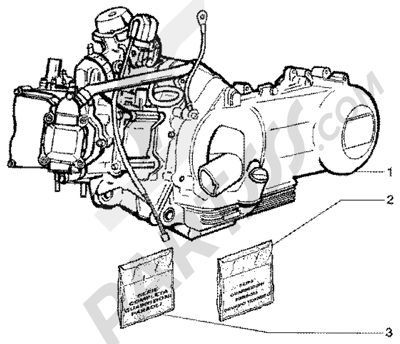 Piaggio X9 200 1998-2005 Engine