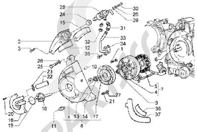 Piaggio X9 200 1998-2005 Flywheel magneto