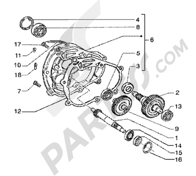 Piaggio X9 200 1998-2005 Rear wheel shaft
