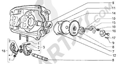 Piaggio X9 200 1998-2005 Rocker levers support