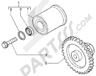 Piaggio X9 200 1998-2005 Torque limiting device-damper pulley