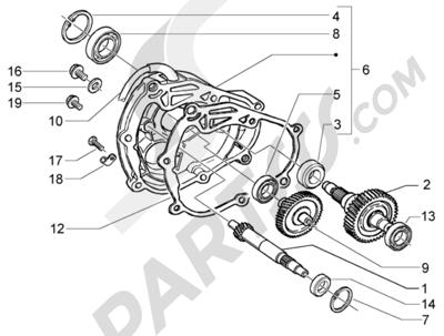 Piaggio X9 200 Evolution 1998-2005 Eje rueda trasera