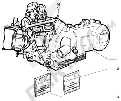 Piaggio X9 200 Evolution 1998-2005 Motor