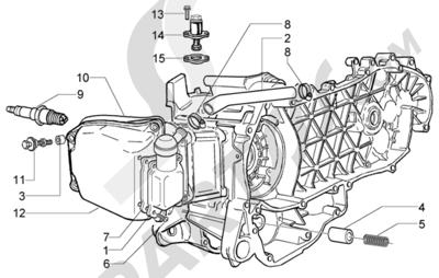Piaggio X9 200 Evolution 1998-2005 Valvula by-pass-tensor de cadena-valvula desfogue aceite