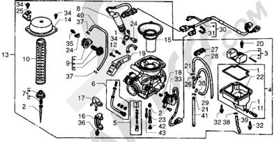 Piaggio X9 250 1998-2008 Carburador