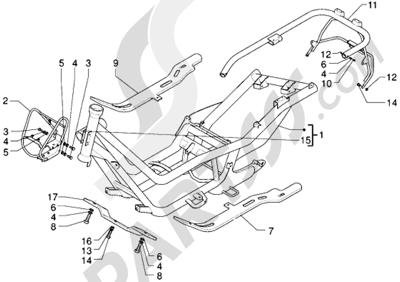 Piaggio X9 250 1998-2008 Chasis