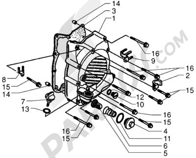 Piaggio X9 250 1998-2008 Cubierta de carter de motorderecho