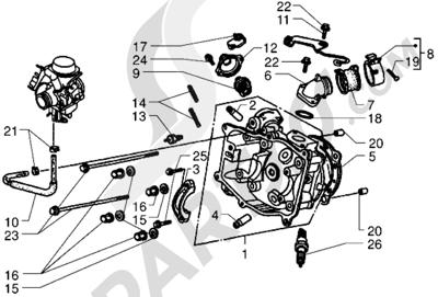 Piaggio X9 250 1998-2008 Culata