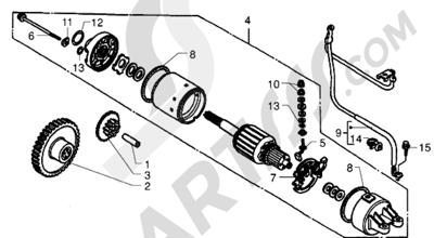 Piaggio X9 250 1998-2008 Motor de arranque