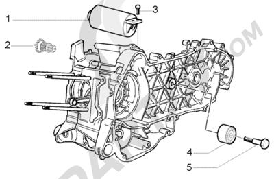 Piaggio X9 250 Evolution 1998-2005 Arranque electrico-polea amortiguador