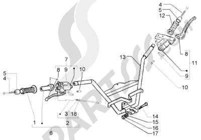 Piaggio X9 250 Evolution 1998-2005 Manillar - Bombas del freno