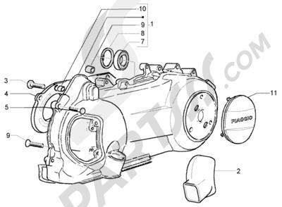 Piaggio X9 250 Evolution 1998-2005 Refrigeracion carter