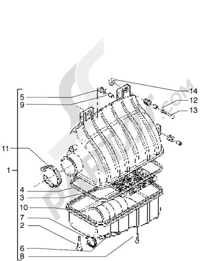 Piaggio X9 500 1998-2005 Filtro de aire
