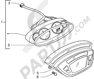 Piaggio X9 500 1998-2005 Instrumentacion