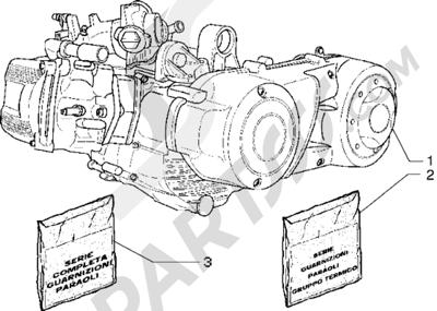 Piaggio X9 500 1998-2005 Motor