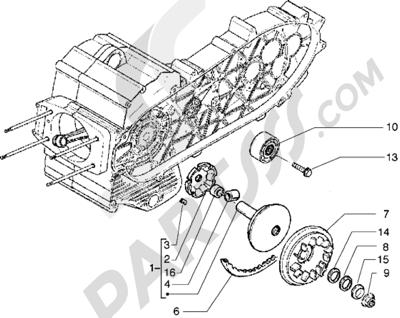 Piaggio X9 500 1998-2005 Polea motriz