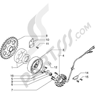 Piaggio X9 500 1998-2005 Volante magnetico
