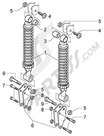 Piaggio X9 500 Evolution (ABS) 1998-2005 Amortiguadores