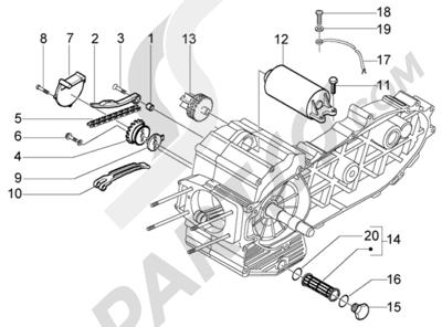 Piaggio X9 500 Evolution (ABS) 1998-2005 Bomba de aceite-arranque electrico
