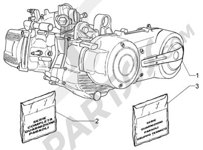 Piaggio X9 500 Evolution (ABS) 1998-2005 Motor
