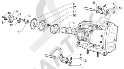 Piaggio X9 500 Evolution (ABS) 1998-2005 Soporte brazo oscilante