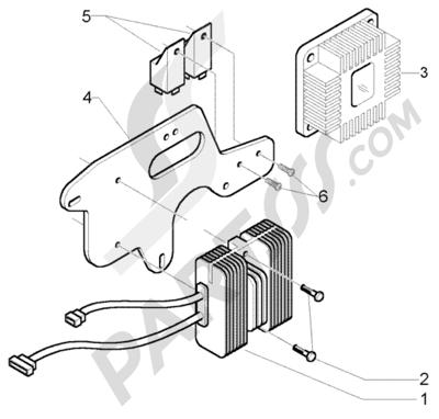 Piaggio X9 500 Evolution (U.S.A.) 1998-2005 Dispositivos Electricos