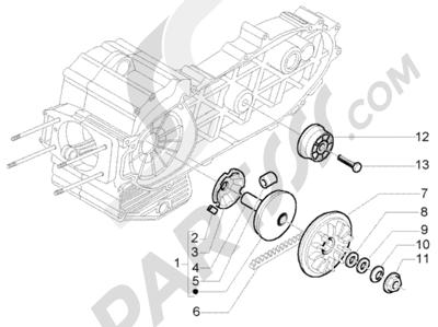 Piaggio X9 500 Evolution (U.S.A.) 1998-2005 Polea Motriz