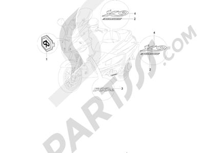 Piaggio X9 500 Evolution 2006-2007 Monogrammes - Decorations