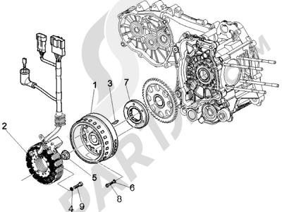 Piaggio X9 500 Evolution 2006-2007 Volant magnetique