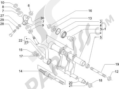 Piaggio X9 500 Evolution (USA) 2006-2007 Brazo oscilante