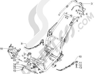 Piaggio X9 500 Evolution (USA) 2006-2007 Chasis carrocería