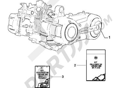 Piaggio X9 500 Evolution (USA) 2006-2007 Motor completo