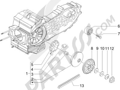 Piaggio X9 500 Evolution (USA) 2006-2007 Polea conductora