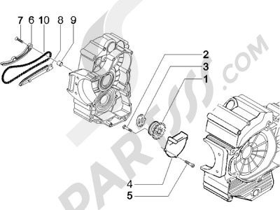 Piaggio X9 500 Evolution ABS 2006-2007 Bomba de aceite