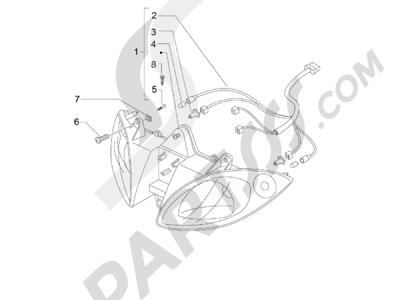 Piaggio X9 500 Evolution ABS 2006-2007 Faros delanteros - Indicadores de dirección