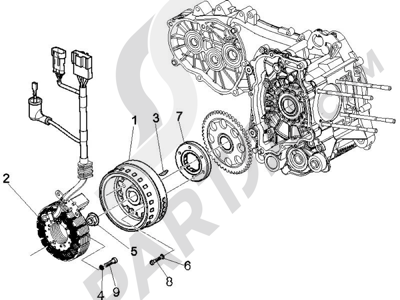 Piaggio X9 500 Evolution ABS 2006-2007 Volante magnetico