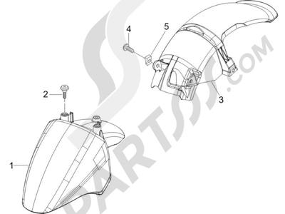 Piaggio Zip 100 4T (Vietnam) 2011-2014 Alojamiento rueda - Guardabarros