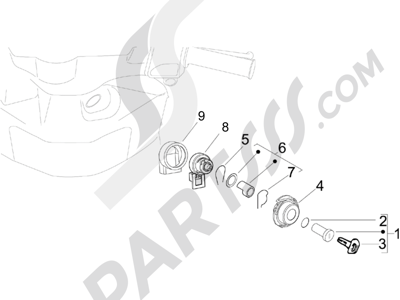 Piaggio Zip 100 4T (Vietnam) 2011-2014 Cerraduras