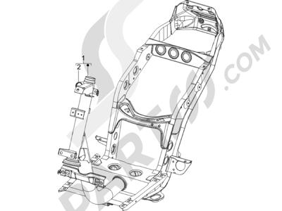 Piaggio Zip 100 4T (Vietnam) 2011-2014 Chasis carrocería