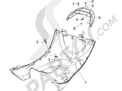 Piaggio Zip 100 4T (Vietnam) 2011-2014 Cubiertas laterales - Spoiler