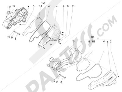 Piaggio Zip 100 4T (Vietnam) 2011-2014 Filtro de aire