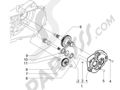 Piaggio Zip 100 4T (Vietnam) 2011-2014 Grupo reductor
