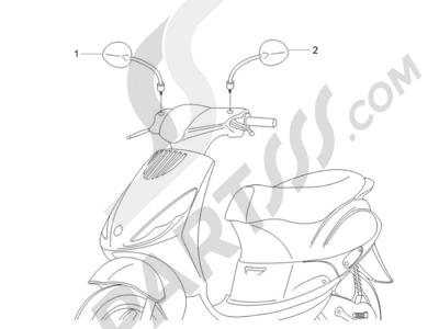 Piaggio Zip 100 4T (Vietnam) 2011-2014 Retrovisor es