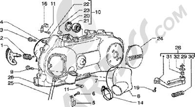 Piaggio Zip 125 4T 1998-2005 Arranque a pedal-refrigeracion carter