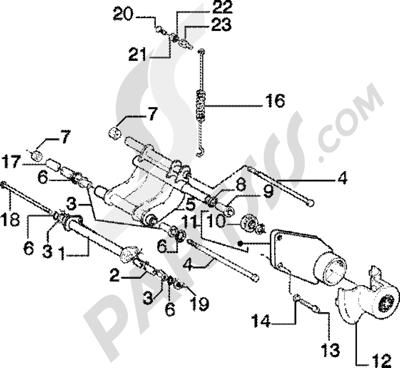 Piaggio Zip 125 4T 1998-2005 Brazo oscilante