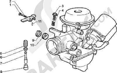 Piaggio Zip 125 4T 1998-2005 Carburador