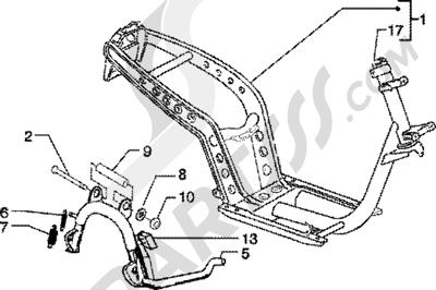 Piaggio Zip 125 4T 1998-2005 Chasis-caballete