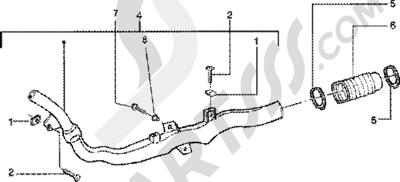 Piaggio Zip 125 4T 1998-2005 Conducto refrigeracion correa-tubo de admission