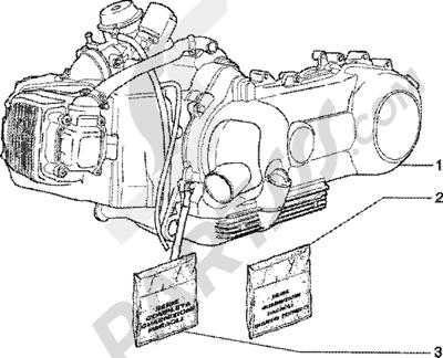 Piaggio Zip 125 4T 1998-2005 Motor