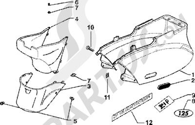 Piaggio Zip 125 4T 1998-2005 Protecciones laterales